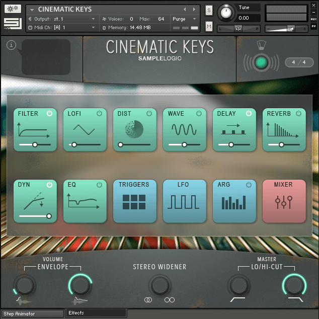 CINEMATIC KEYS | SAMPLE LIBRARY VST FOR KONTAKT PLAYER | SAMPLE LOGIC LLC