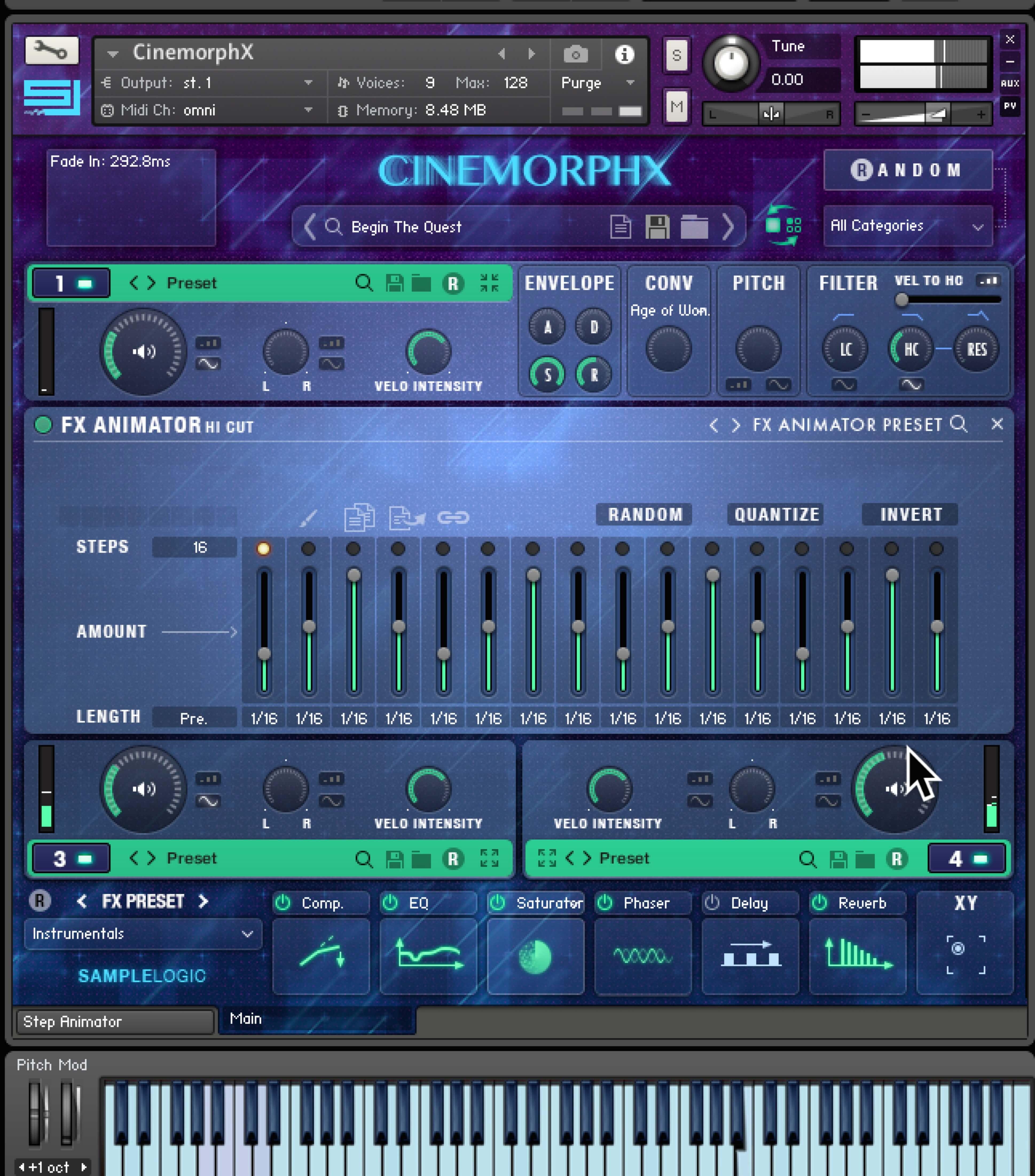 CINEMORPHX | SAMPLE LIBRARY FOR KONTAKT PLAYER | SAMPLE LOGIC LLC
